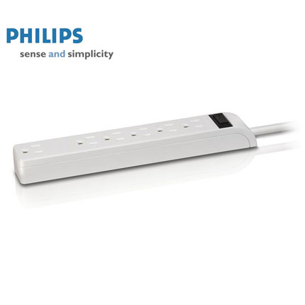 Philips 6 Outlet Power Strip with 3ft Cord