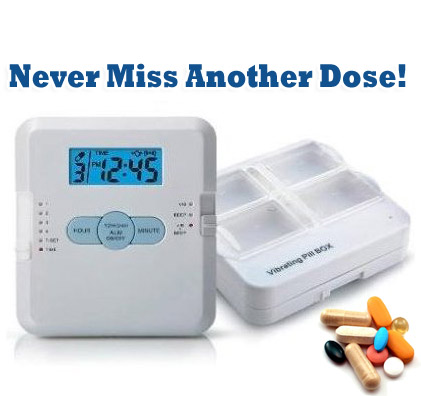 4 - Alarm Pill Box With Vibrating Reminder - SHIPS FREE