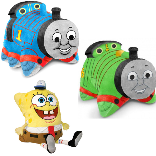 Pillow Pets Pee Wees - Choose from Thomas the Train, Percy, or Sponge Bob! SHIPS FREE!