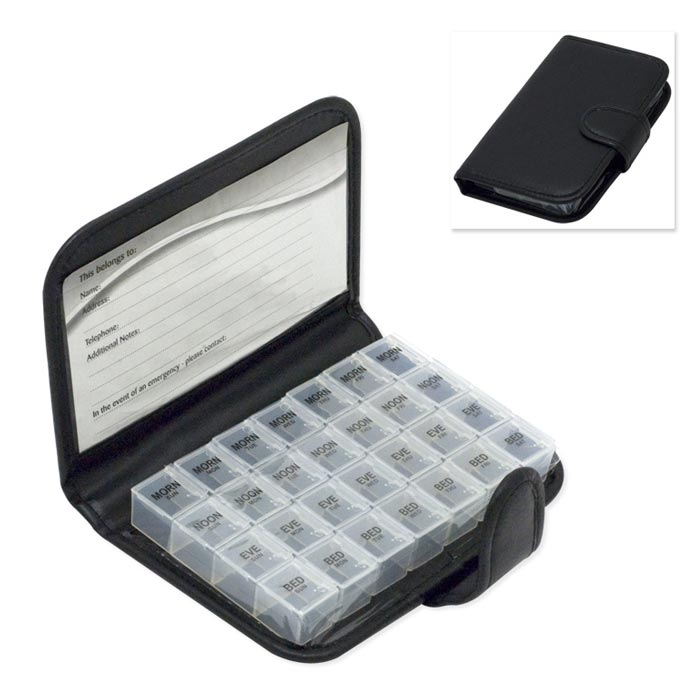 Weekly Pill Wallet Organizer