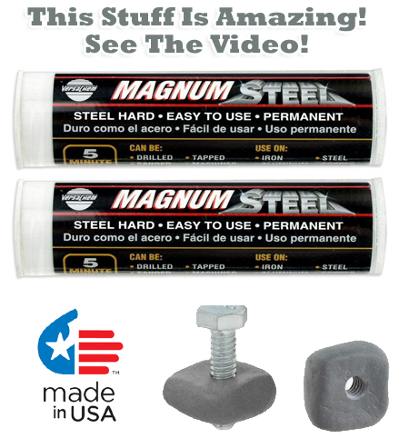 2 Pack - Magnum Steel Incredible Epoxy Putty - See the video!