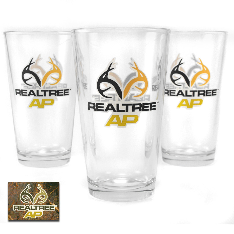 24 Pack of 16 oz RealTree AP Glasses by Libbey - SHIPS FREE!