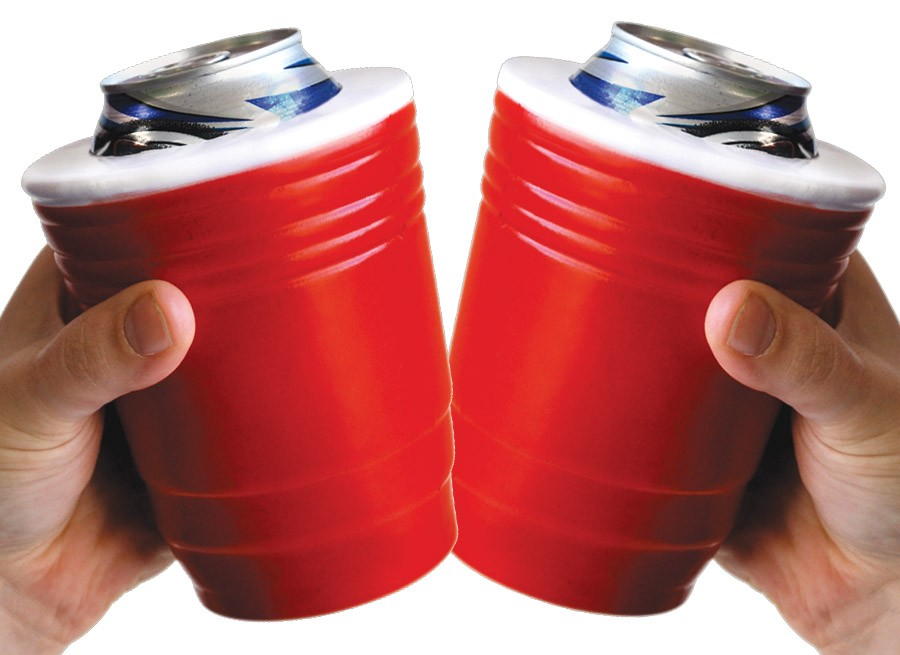 SHIPS FREE! 2 Pack - Red Solo Cup Koozies! - Proceed to party!