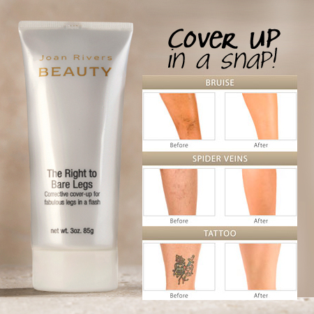 Joan Rivers Beauty - Right to Bare Legs Corrective Skin Cover-Up - SHIPS FREE!