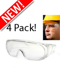 4 Pack - Workmans Safety Glasses