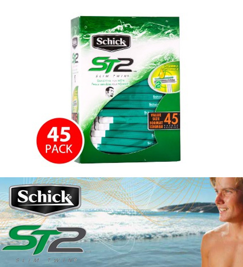 Schick ST2 SlimTwin Disposable Razors 45pk