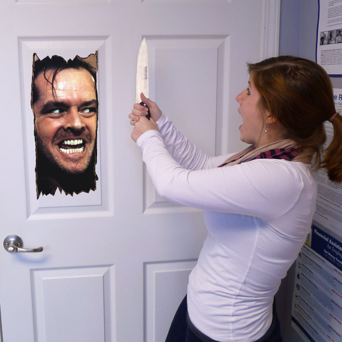 Here's Johnny! Wall (Or Door) Cling - Ships Free!