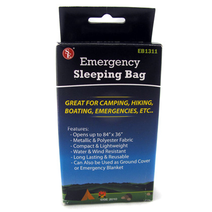 Emergency Sleeping Bag- Fits In Your Pocket!