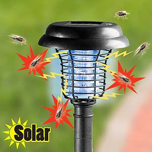 Solar LED Garden Bug Zapper - Spring is coming, but so are the bugs!  SHIPS FREE!