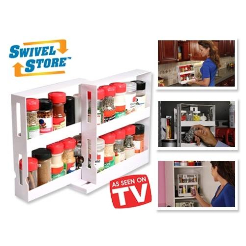 2 Pack - Swivel Store Organizers - Perfect for organizing spices, medication bottles, craft supplies & more!