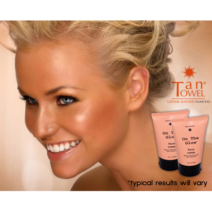 2 Pack - Tantowel On The Glow Daily Self Tanning Face Moisturizer With Retinol - SHIPS FREE!