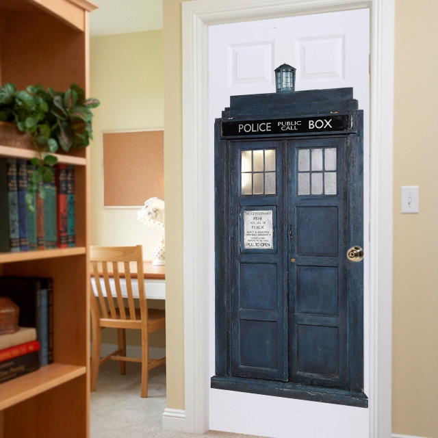 Doctor Who Tardis Wall Cling - Choose From Mini, Medium and Huge!