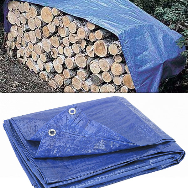 5 Pack of All Purpose Woven Poly Tarps With Metal Grommets 5x7, 6x8 or 8x10 - SHIPS FREE!