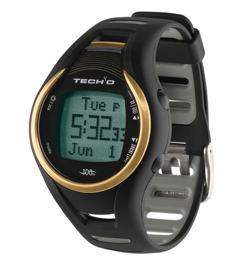 Tech4O Accelerator Gold Mens Pedometer Watch - Speed, Distance, Calories & Step!
