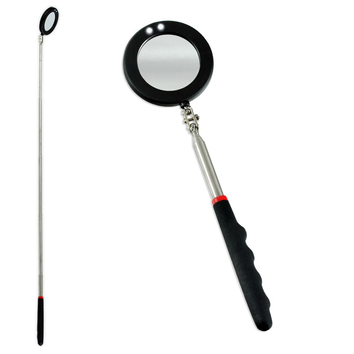 2 LED Telescoping Mirror- View Hard to Reach Areas With Ease!