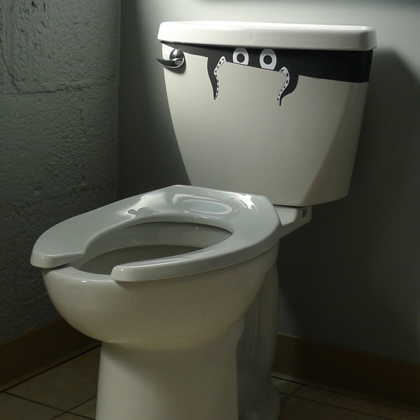 Stick-On (Repositionable) Toilet Monster - Ships Free!