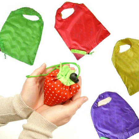 5 Fruit Tote Bags - Full Size Tote That Squishes Into a Little Piece of Fruit!