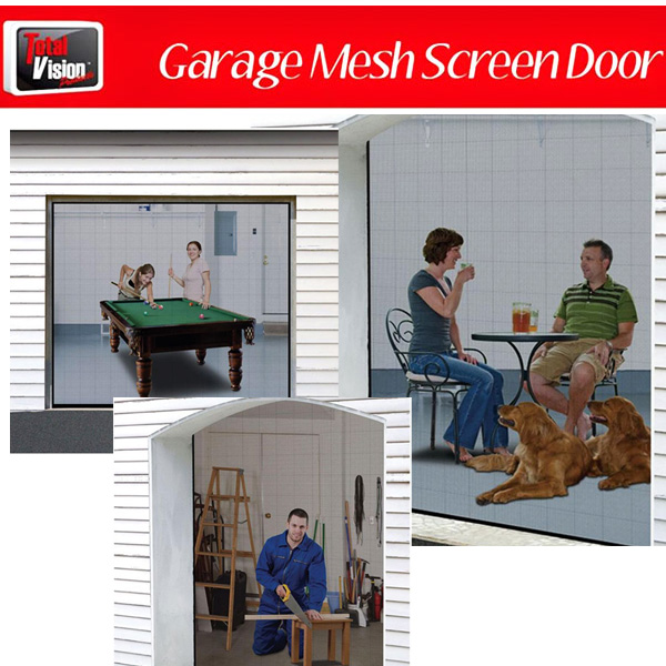 Instant Garage Screen Door - Let Fresh Air In & Keep Insects Out - SHIPS FREE!