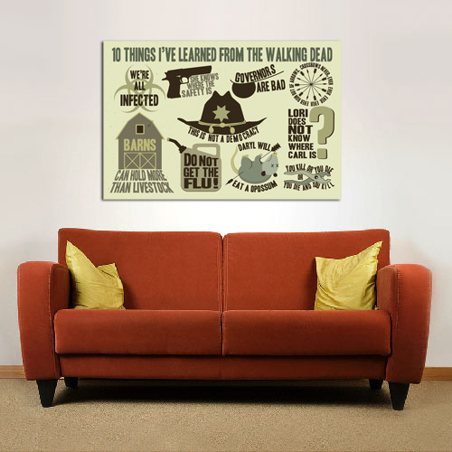 10 Things I've Learned From The Walking Dead - POSTER (2 sizes available) - SHIPS FREE!