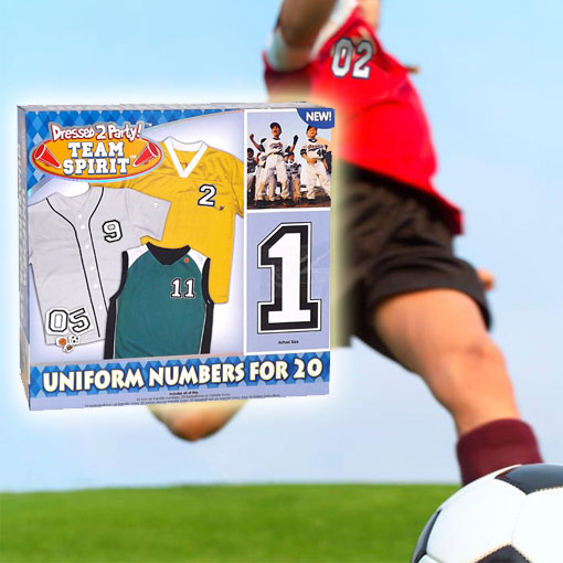 Team Sports Uniform Iron-On Numbers - For Up To 20 Players