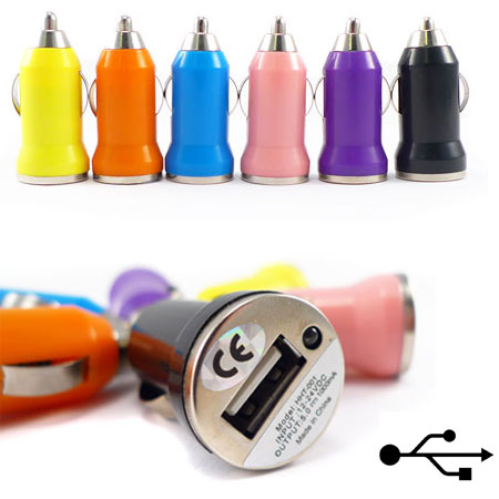 USB Car 12 Volt Lighter Receptacle - Random Color