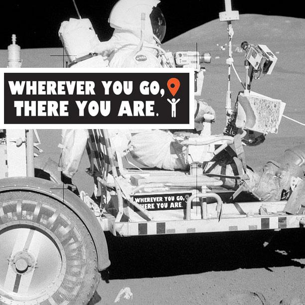 Wherever You Go, There You Are - Bumper Sticker - Ships Free!
