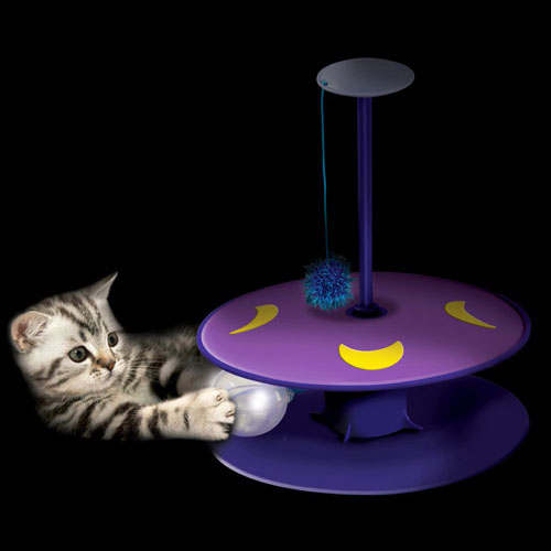 Whisper Track With Twinkle Ball by Petstages - Keeps Your Cat Entertained At Night!