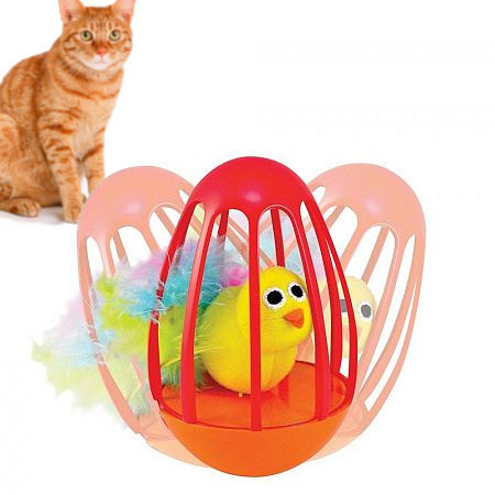 Pretty Bird Wobble Cage Cat Toy by Petstages - SHIPS FREE!