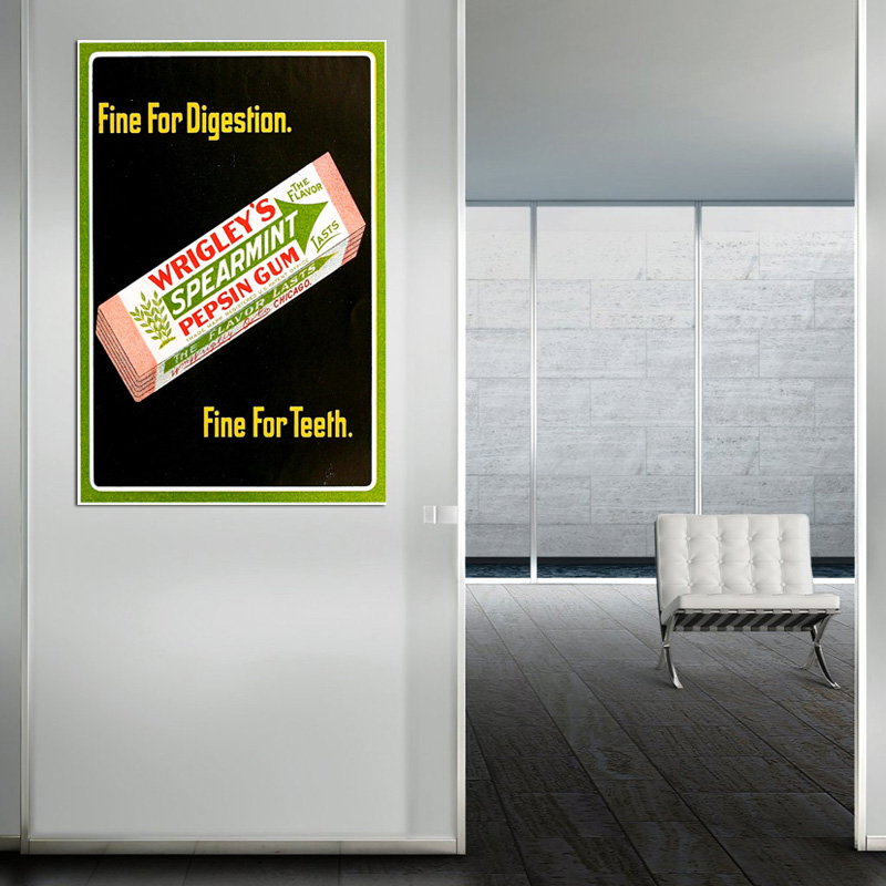 Retro Wrigley's Ad - POSTER (2 sizes available) - SHIPS FREE!