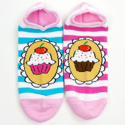 Cupcake Ankle Sock 2-Pack by Yummy You - SHIPS FREE!