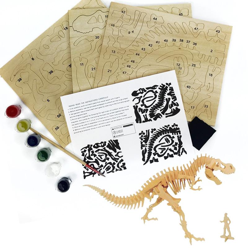 T-Rex-Wooden-3D-Puzzle-wPaints