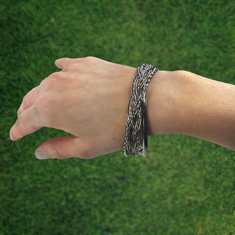 Aged-Silver-Triple-Bangle-Bracelet
