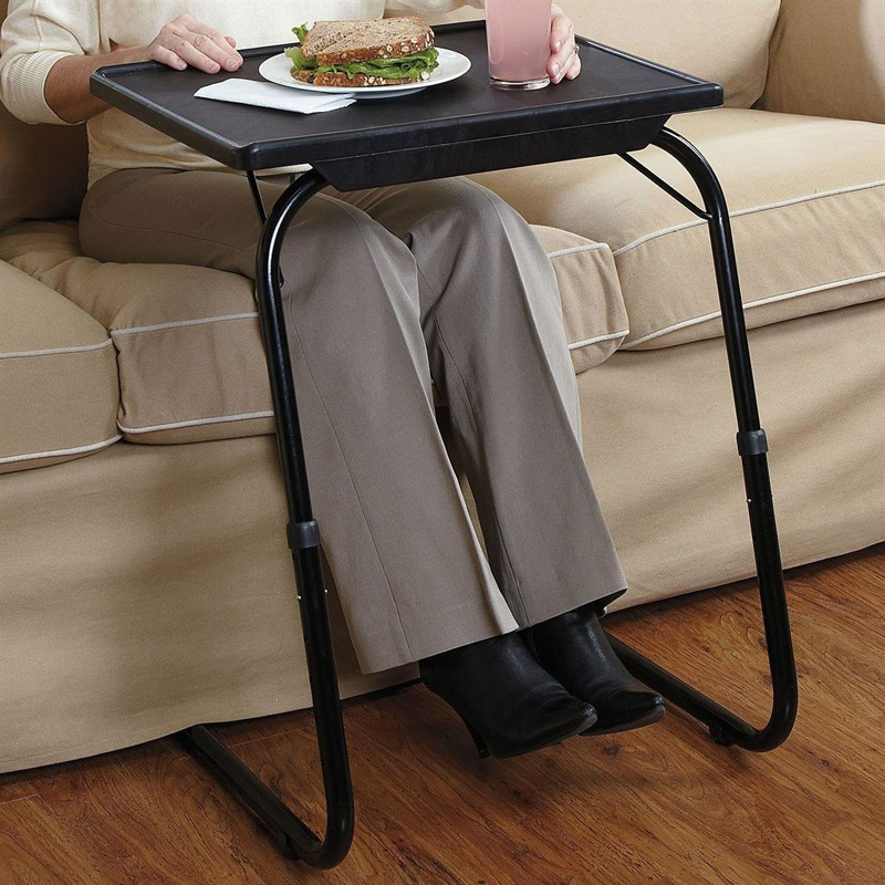 Deluxe Adjule Height Tilt Slide Under Table Top Tv Tray Ships Free