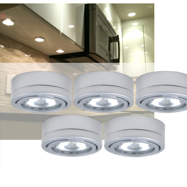 Utilitech 5 pack 26 in under cabinet dimmable xenon puck light kit utilitech 5 pack 26 in under cabinet dimmable xenon puck light kit simple just plug it in installation ships free 13 deals mozeypictures Images
