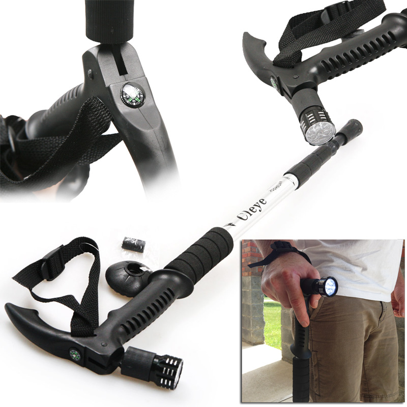 Anti-Shock-Telescoping-Walking-Stick-w-9-LED-Light-and-Compass