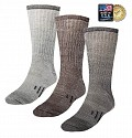 2-Pairs of Mountain Lodge GENUINE Merino Wool Socks