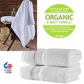 4-Set Luxury Oversized Organic Cotton Bath Towels