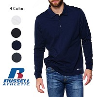 4 Pack of Russell Men's Moisture Wicking Dri-Power Long Sleeve Polos