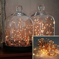Wireless 9-Foot Waterproof Micro LED String Lights (Copper or Silver)