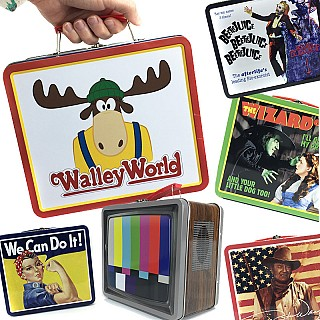 Old School Pop Culture Tin Lunchbox