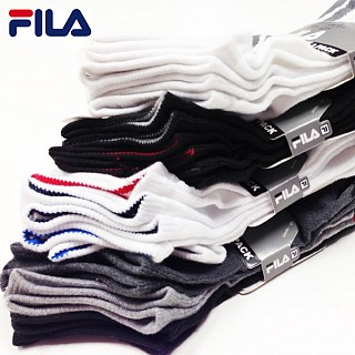 12-Pack Fila Men's or Women's Performance No-Show Socks