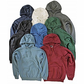 3-Pk Vintage Colored Fleece Pullover Ringspun Cotton Hoodie