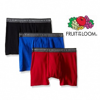 3-Pack Fruit Of The Loom Boxer Briefs (Assorted Colors)