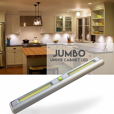 VERY Popular! Jumbo Size Wireless Under Cabinet LED Light - See the video! Order 6+ for only $5.99 each! SHIPS FREE & IMMEDIATELY!                                          Yes, we realize our prices seem too good to be true, but they are! We've been at this for over 10 years and our prices just keep getting better!