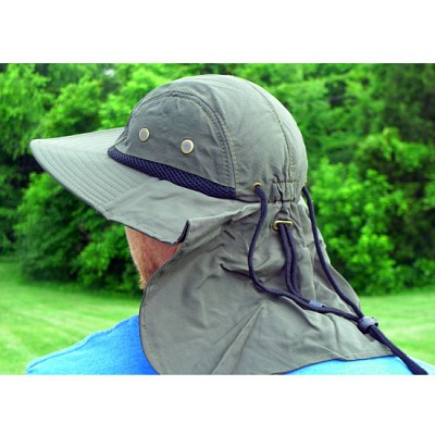 100% Cotton Boonie Hat With Rear Sun Flap -  Stay Free From Neck Burns! One for $9 or Two for $16! - SHIPS FREE!