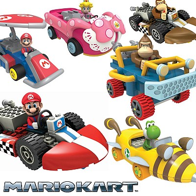 Mario Kart K'NEX Building Sets With Pull N Go Motorized Action! Lots Of Characters Available! Buy More Sets And Save More! Watch the Video to See Them in Action! SHIPS FREEWith great quantity discounts, the more characters you buy the more you save!