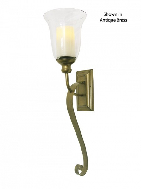 Serafina Flameless Candle Wall Sconce in Antique Brass Finish - 13 Deals